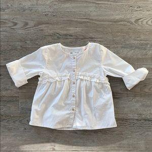 Zara girl white blouse